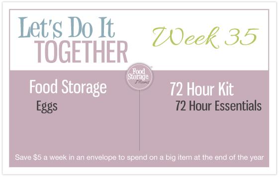 Let's do it Together, food storage, emergency preparedness