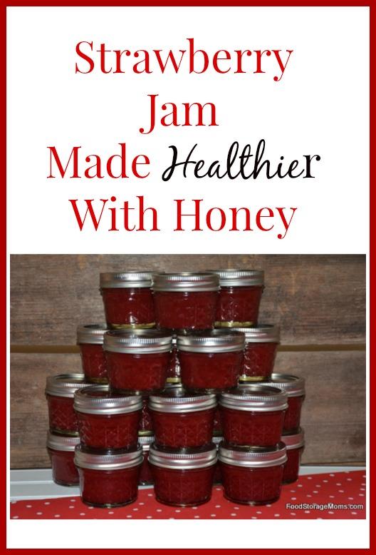Strawberry Jam-Made Healthier With Honey | via www.foodstoragemoms.com