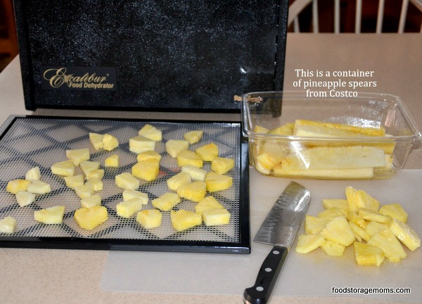 How To Dehydrate Pineapple When It's Fresh | via www.foodstoragemoms.com