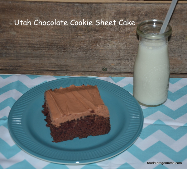 The Best Chocolate Sheet Cake Recipe In Utah by FoodStorageMoms.com