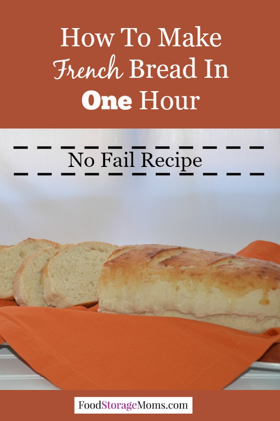 How to Make French Bread In One Hour From Start To Finish | via www.foodstoragemoms.com