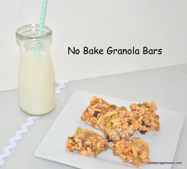 Easy To Make Healthy Granola Bars by FoodStorageMoms.com