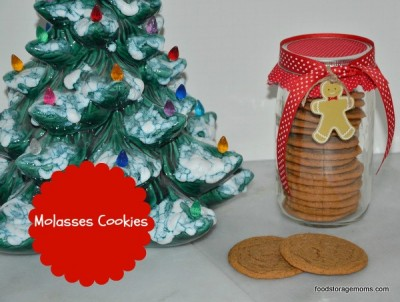 Molasses Cookie Recipe by FoodStorageMoms