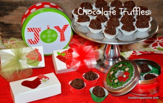 Chocolate Truffles by Food Storage Moms