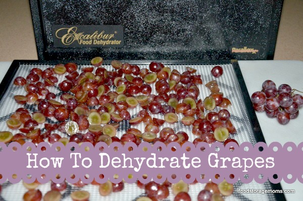 How To Dehydrate Grapes