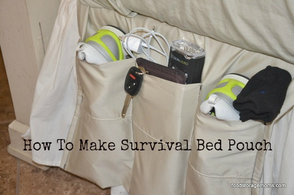 Survival Bed Pouch You Can Make With Pillowcase | via www.foodstoragemoms.com