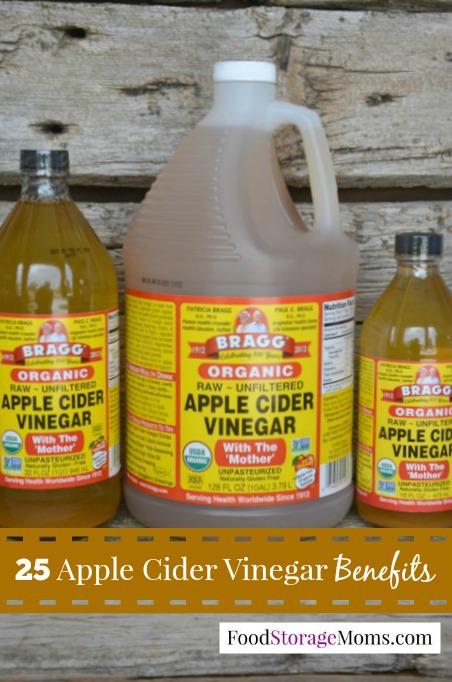 25 Apple Cider Vinegar Benefits You May Want To Use | via www.foodstoragemoms.com