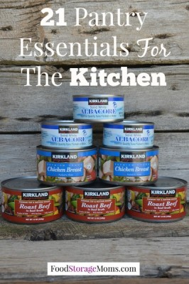 21 Pantry Essentials For The Kitchen-these are my go to pantry essentials for every meal by FoodStorageMoms.com