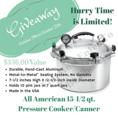 All American Pressure Canner Giveaway-this brand is my favorite pressure canner by Food Storage Moms