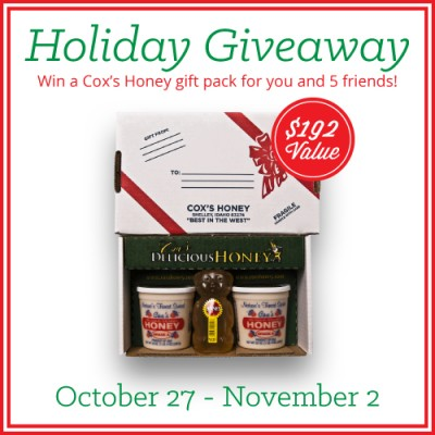 Merry Christmas Coxs Honey Giveaway Oct. 27th-Nov. 2nd, 2014 by FoodStorageMoms.com
