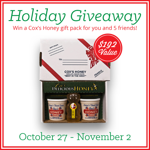 Merry Christmas Cox's Honey Giveaway Oct. 27th-Nov. 2nd, 2014 by FoodStorageMoms.com