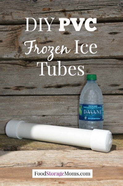 DIY PVC Frozen Ice Containers-easy to make for coolers and lunch boxes by FoodStorageMoms.com