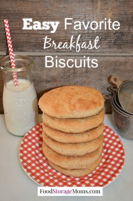 Easy Favorite Breakfast Biscuits-fluffy & flaky biscuits by FoodStorageMoms.com