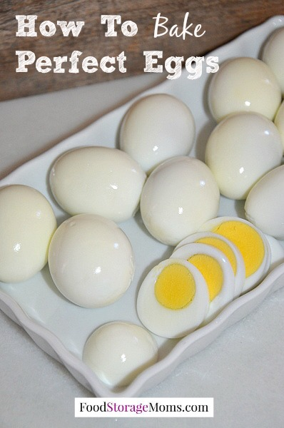 How To Bake Perfect Eggs that are easy to peel and use in so many recipes |via www.foodstoragemoms.com
