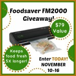FoodSaver Tips And Giveaway