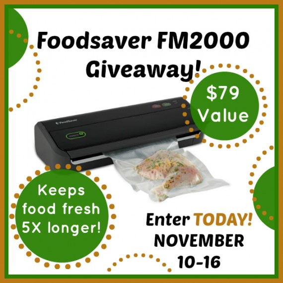 FoodSaver Tips And Giveaway-Nov.10th-16th, 2014 by FoodStorageMoms.com