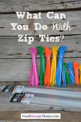 What Can You Do With Zip Ties   via www.foodstoragemoms.com