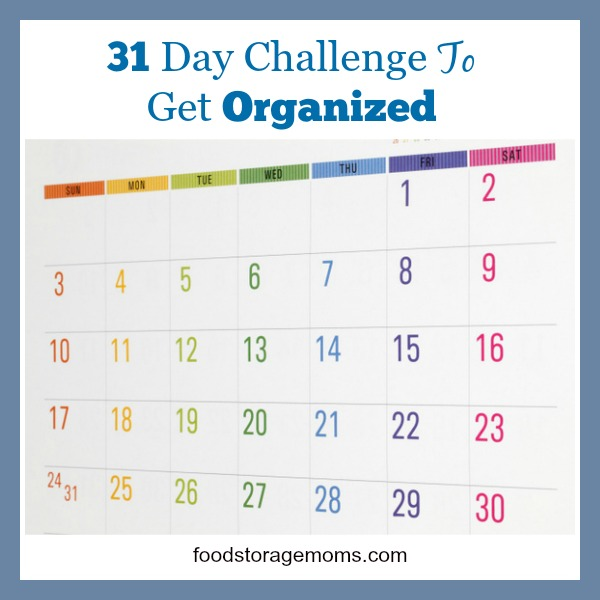 31 Day Challenge To Get Organized | by FoodStorageMoms.com
