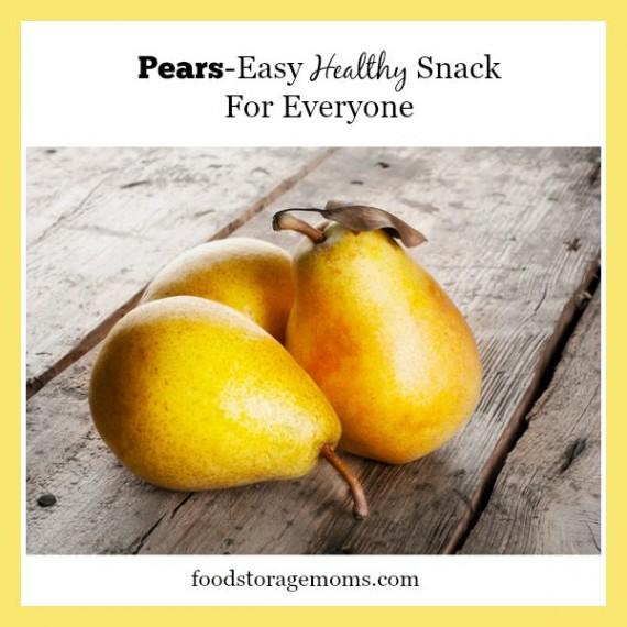 Pears-Easy Healthy Snack For Everyone | by FoodStorageMoms.com