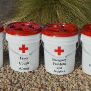 DIY Dollar Store First Aid Kit Buckets