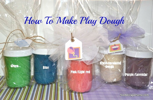 5 Ingredients To Make Playdough For Kids | by FoodStorageMoms.com