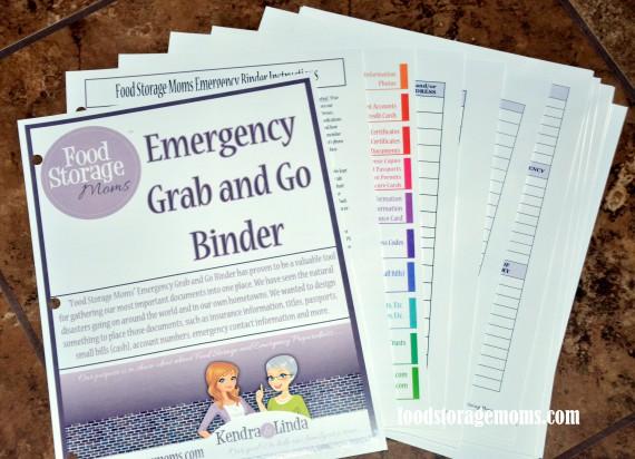 Food Storage Moms New Printable Emergency Binder Pages