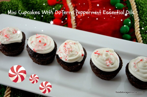 Mini Cupcakes With DoTerra Peppermint Essential Oil |via www.foodstoragemoms.com