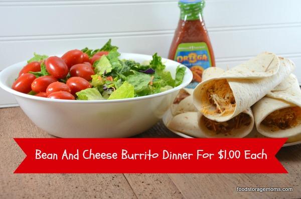 Bean and cheese burritos