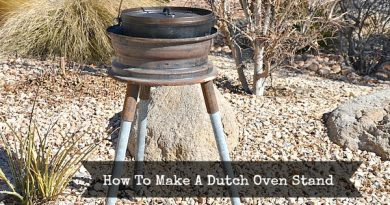 How To Make A Dutch Oven Stand   via www.foodstoragemoms.com