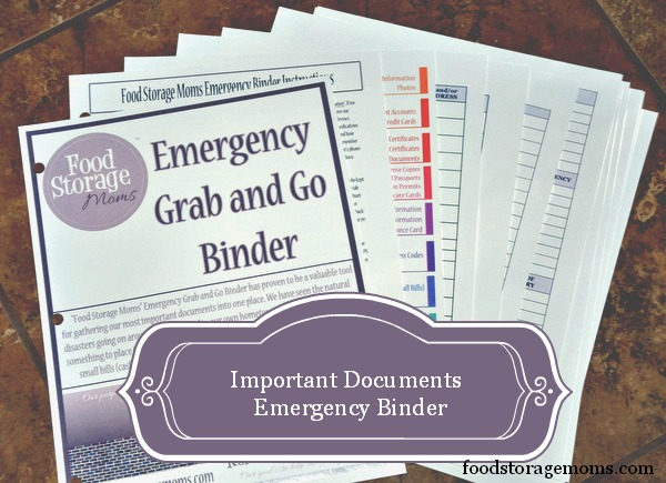 Important Documents Emergency Contents