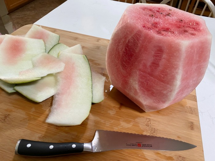 Cut the rind off