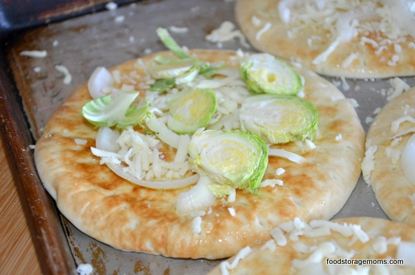 Brussels Sprouts Pita Pizza
