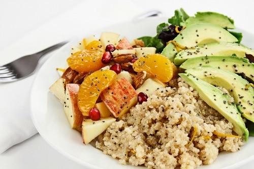 Whole Grain Salad With Pomegranates