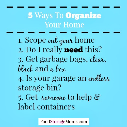 How To Declutter Stuff In Your Home Quickly Food Storage
