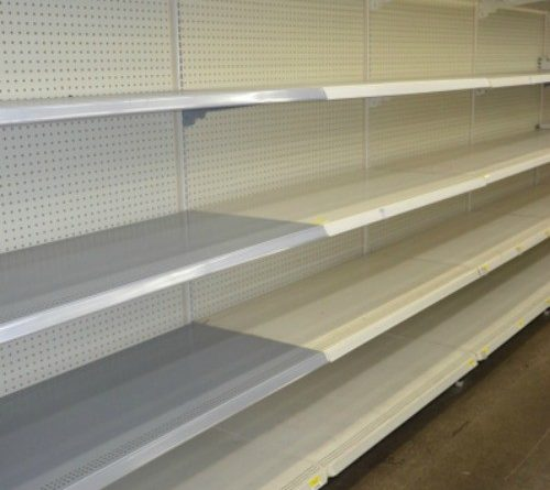 Empty Grocery Store