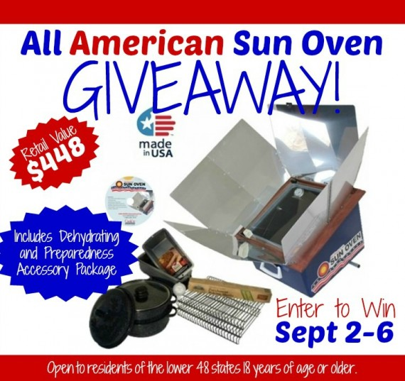 All American Sun Oven Giveaway