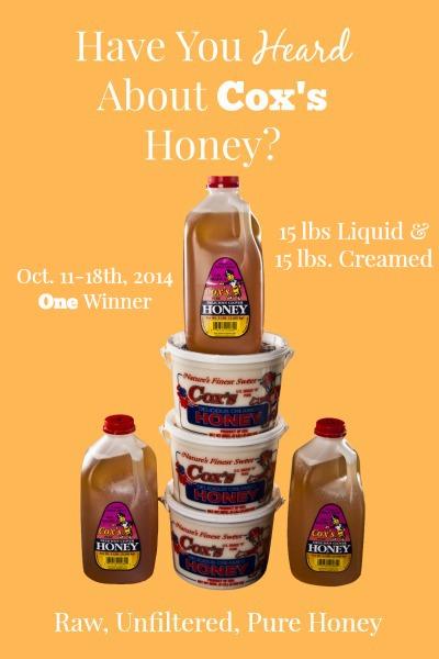 Coxs Honey-Shelley Idaho-Giveaway-raw, unfiltered, pure honey   via.www.foodstoragemoms.com