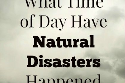 What Time Of Day Have Natural Disasters Happened