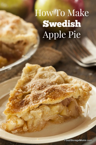 How To Make Swedish Apple Pie | via www.foodstoragemoms.com