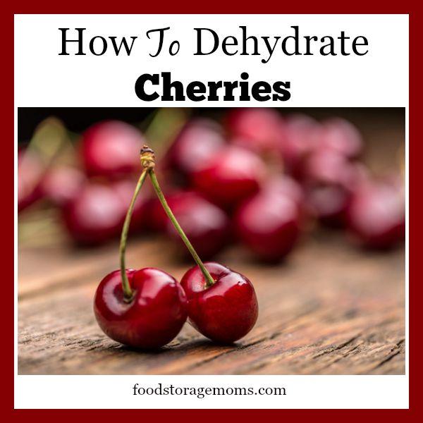 How To Dehydrate Cherries-Healthy Snack | by FoodStorageMoms.com