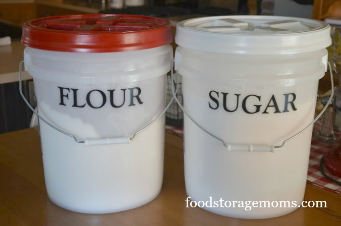 Food Storage These Three Buckets Are 4 1 Gallon Units With Gamma Lids The 5 Fit Them But I Do Not Know Where Purchased
