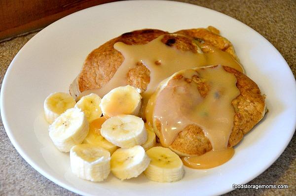 make chunky monkey pancakes
