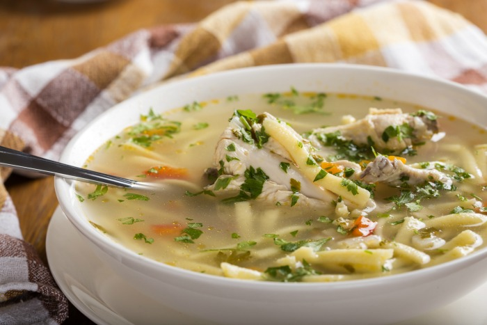 Quick and easy chicken soup recipe for colds flu food for Soup for a cold
