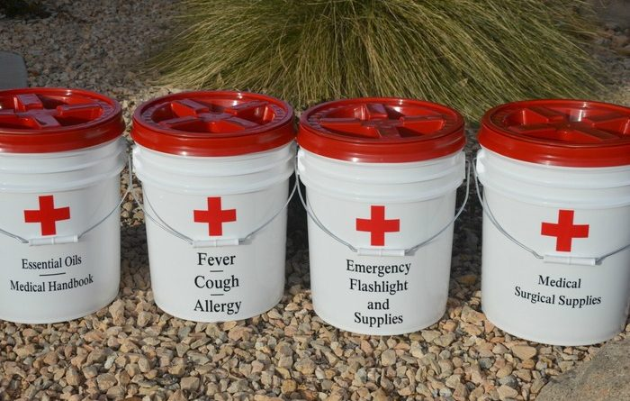 DIY Dollar Store First Aid Kit Buckets