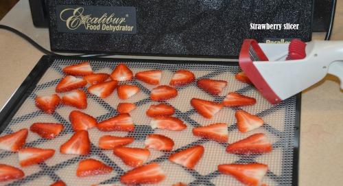 Dehydrate Fresh Strawberries