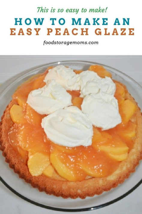 How To Make An Easy Peach Glaze