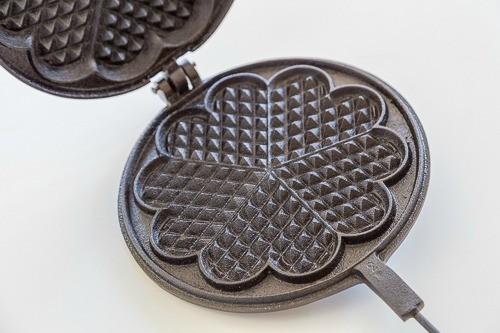 Waffle Heart Cast iron Pans