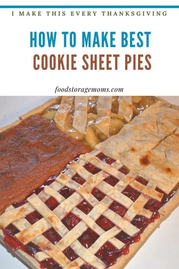 How To Make The Best Cookie Sheet Pies