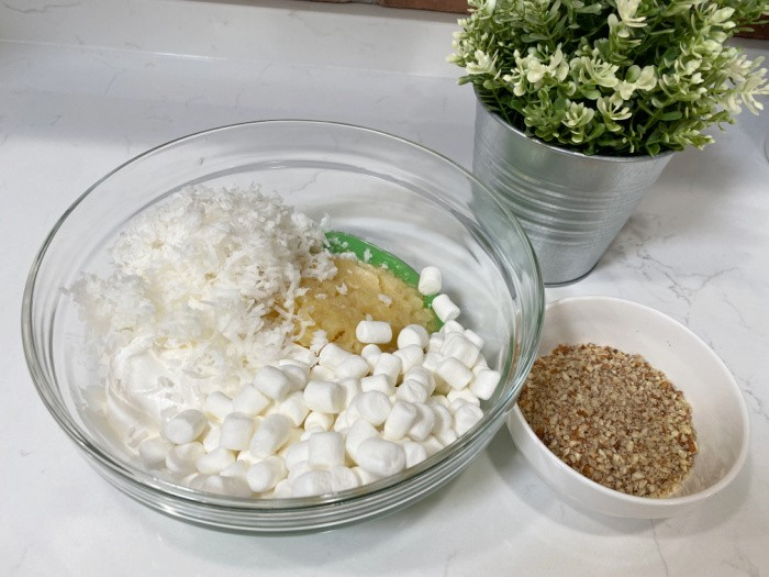 Mixing the Watergate Salad