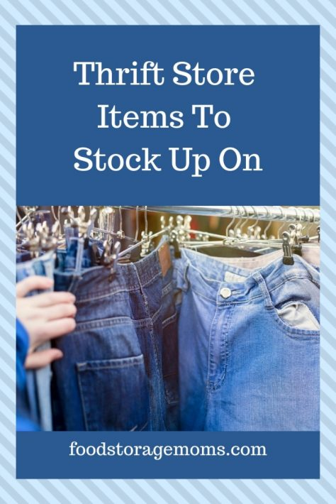 Thrift Store Items To Stock Up On